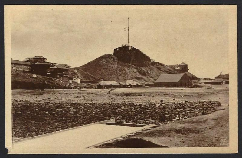 Aden The Signal Station real photo postcard by Dinshaw & Co. c.1910