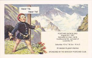 Kentucky Postcard Club Show 1987 Louisville Kentucky