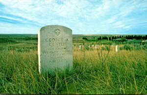 Montana Little Big Horn Stone Marher Where General George A Custer Fell