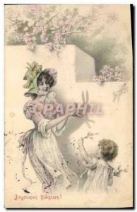 Old Postcard Fantaisie Kids Chinese Shadow Rabbit