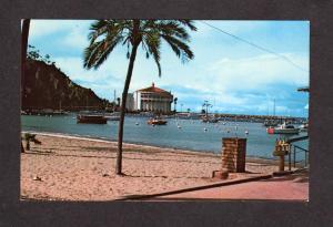 CA Greetings From CATALINA ISLAND Avalon Bay Casino CALIFORNIA Postcard