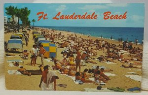 Beach 1968 Fort Lauderdale Florida Vintage Postcard
