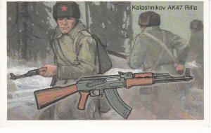 Cigarette Cards Will's Embassy World of Firearms No 34 Kalashnikov AK47
