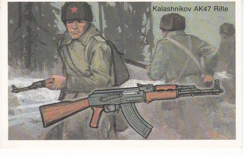 Cigarette Cards Will's Embassy World of Firearms No 34 Kalashnikov AK47