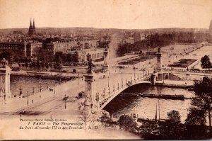 France Paris Vue Panoramique du Pont Alexande III et des Invalides