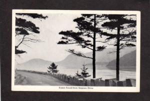 ME Acadia National Park Mt Desert Island Somes Sound Bar Harbor Maine Postcard