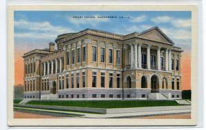 Court House Alexandria Louisiana linen postcard