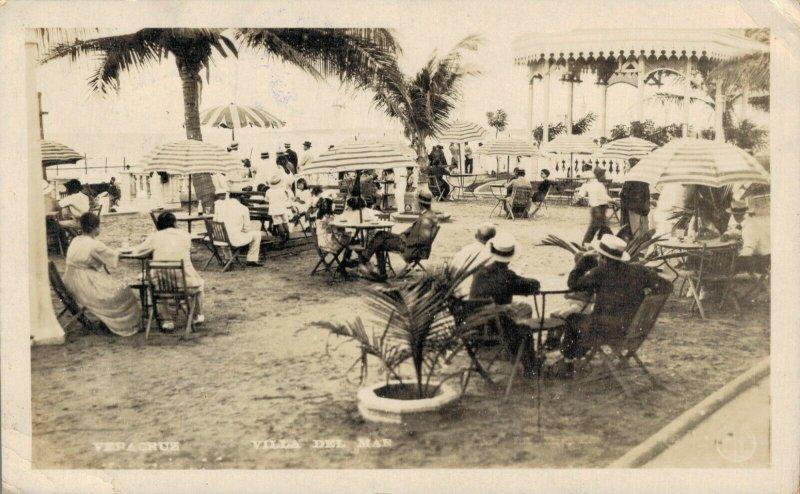 Mexico Veracruz Villa Del Mar 1924 RPPC 03.58