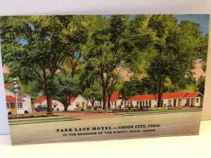 1940s Park Lane Motel Canon City Colorado Postcard Roadside US 50