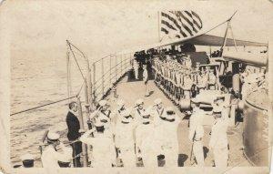 RP: President of Haiti Boarding US Warship , HAITI , 00-10s