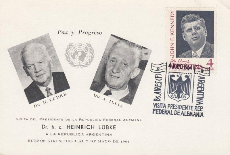 Dr h. c. HEINRICH LUBKE , 1964 ; Ar6entina
