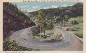 The Road Turn At Walker Prong Great Smoky Mountains National Park