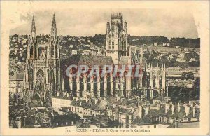 Old Postcard Rouen Church St Ouen to the Cathedral