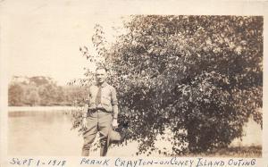 F29/ Cincinnati Ohio RPPC Postcard 1918 Military Soldier Coney Island
