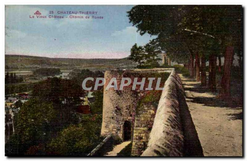Chateau Thierry Old Postcard old castle Walkway