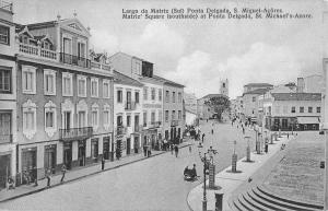 Sao Miguel Island Portugal Matriz Square Street View Antique Postcard K97780