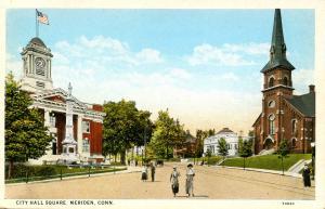 CT - Meriden.  City Hall Square