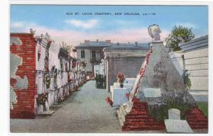 Old St Louis Cemetery New Orleans Louisiana postcard