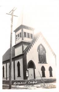 Janesville Minnesota~Methodist Church~1950s Real photo Postcard~RPPC