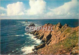 Modern Postcard The Pointe du Raz (Finistere) Brittany in Currents Colors in ...