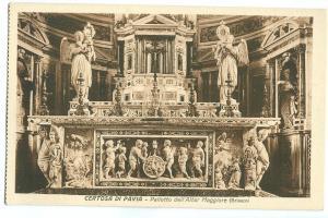 Italy, Certosa di Pavia, Paliotto dell' Altar Maggiore, unused early 1900s