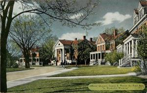 Officers Quarters Francis E Warren Air Force Base Wyoming WY Postcard