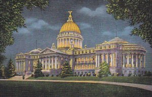 New State Capitol Building At Night Jackson Mississippi