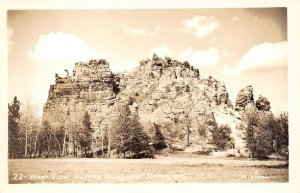LPS38 Tomah Wisconsin Postcard Ragged Rock West View RPPC