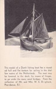 Rhode Island This Model Of A Dutch Fishing Boat Has A Rounded Artvue