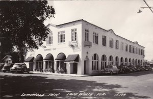Florida Lake Worth Seminole Inn With Old Cars Real Photo sk314