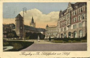 russia, KALININGRAD KÖNIGSBERG in Preußen, Schlossfreitheit mit Schloss (1918)