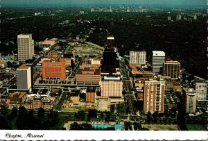 Missouri Clayton Aerial View Looking West To East