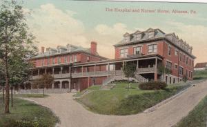 ALTOONA, Pennsylvania, PU-1909; The Hospital and Nurses' Home