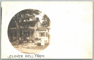 WEATHERLY PA CLOVERDALE FARMS 1909 ANTIQUE REAL PHOTO POSTCARD RPPC