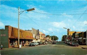 East Tawas Michigan~Martin-Senor Paints~Ben Franklin Store~Family Theater 1970s
