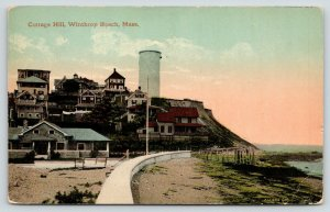 Winthrop Beach Massachusetts~Cottage Hill~Seawall~Stand Pipe Water Tower~1913