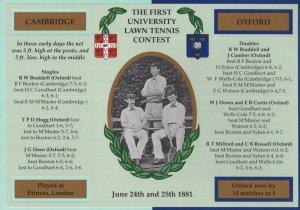 First University Lawn Tennis Match Oxford Cambridge Postcard