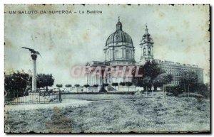 Old Postcard A Saluto Da Superga La Basilica