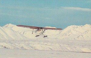 Supercub on Skis Landing On Summit Lake Anchorage Alaska