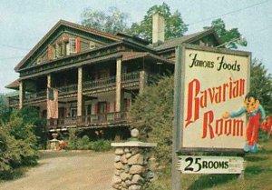 Berkshire Chalet Inn Bavarian Room Advertising Great Barrington MA Chrome P194