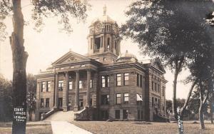Le Mars Iowa~4:05 PM~Huge Clocktower & Columns~County Courthouse~RPPC c1905 UDB