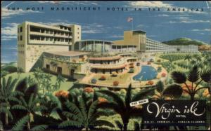 St. Thomas Virgin Islands Hotel Used Postcard Trinidad Cancel