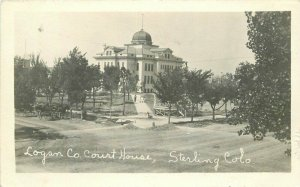 1910 Sterling Colorado Logan County Courthouse RPPC Photo Postcard 21-5850