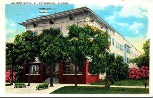 Florida St Petersburg The Allsion Hotel 1940