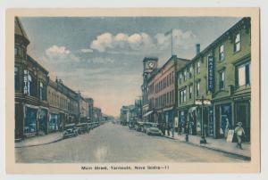 Yarmouth Nova Scotia Main Street Canada c1920 Postcard