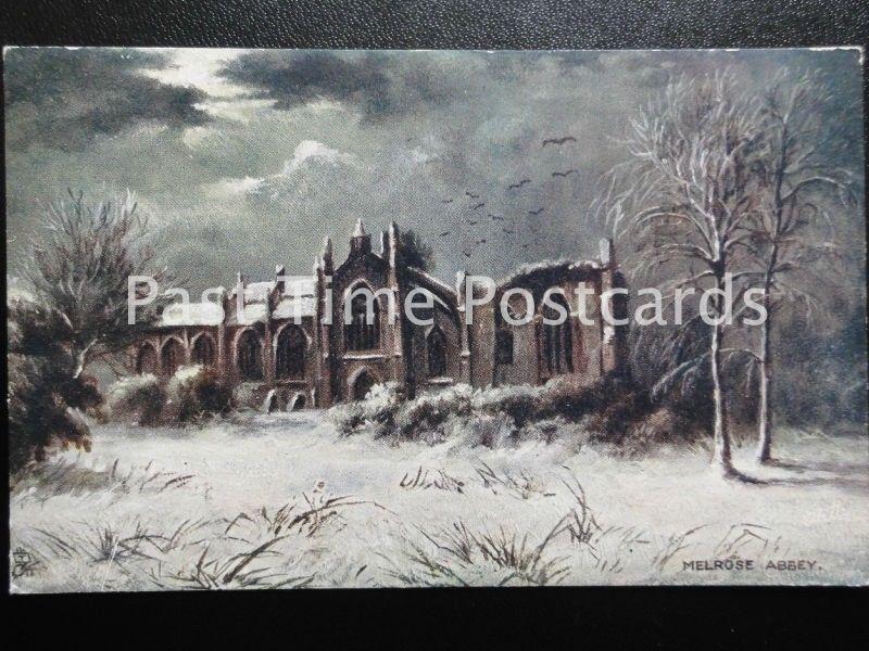 Vintage Päckchen - Melrose Abbey Ein Snowy Winterszene