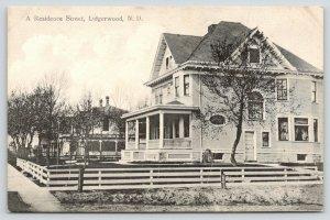 Lidgerwood North Dakota~Residential Street~Nice Victorian Homes~c1910 B&W PC