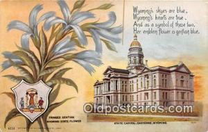 Fringed Gentian, State Capitol Cheyenne, Wyoming, USA Postcard Post Card Chey...