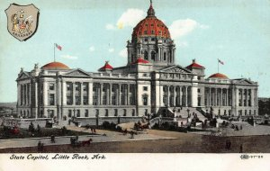 State Capitol, Little Rock, Askansas, Early Postcard, Unused,