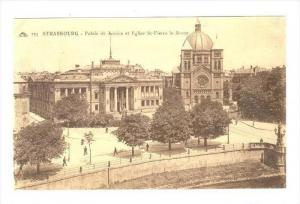 STRASBOURG, France, 00-10s  Palais de Justice et Eglise St-Pierre le Jeune